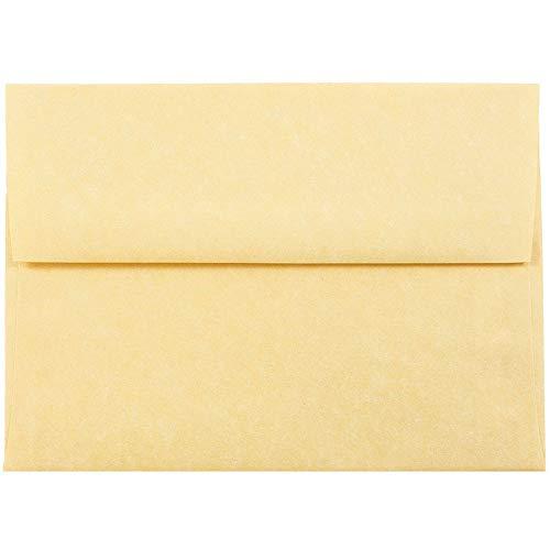 Jam paper® busta dell'invito - 120,7 x 165 mm - oro antico pergamena riciclato - 50/pacco