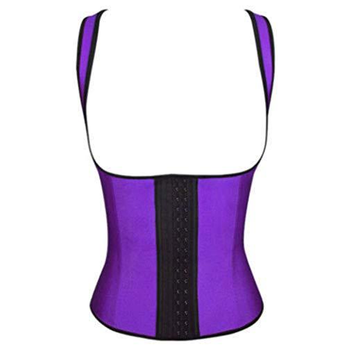GOWINEU Latex Taille Trainer Slimmerbelt Modeling Strap Body Shaper Shapewear Bauch Workout Korsett Weste
