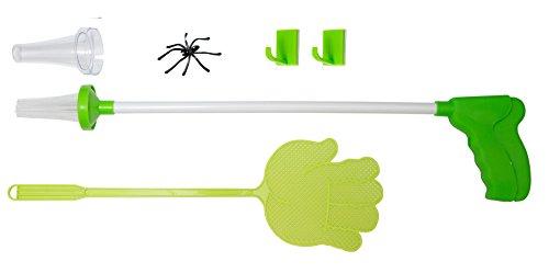 Homekit Fliegenklatsche Spinnenfänger lang Spinnengreifarm Spinnengreifer Spinnenzange Spinnenfanggerät Insektenfänger Insektenklatsche Fliegenabwehr