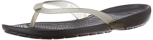 Crocs Women's Really Sexi Flip-Flop Black Croslite Fashion Fashion Sandals - W5  available at amazon for Rs.1800