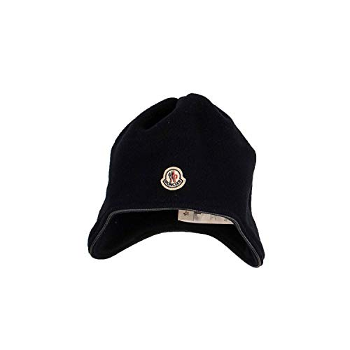 Moncler Fleece-Mütze - Navy, Größe:S