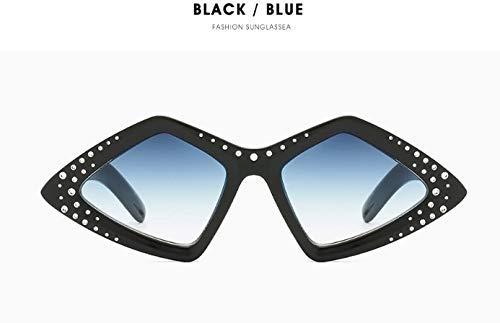GFF Zweifarbiger Rahmen Einzigartige Cat Eye Sonnenbrille Männer Frauen Mode UV400 Vintage Brille 47922