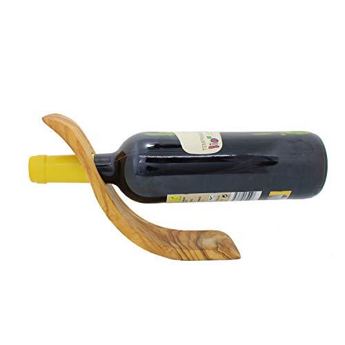 Weinflaschenhalter aus Holz Welle, Weinhalter, Handarbeit, Faschenhalter aus Holz, Geschenkidee für...