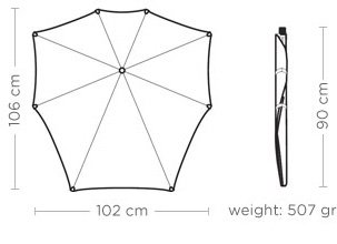 Senz Original Umbrella XL Walk the Chalk