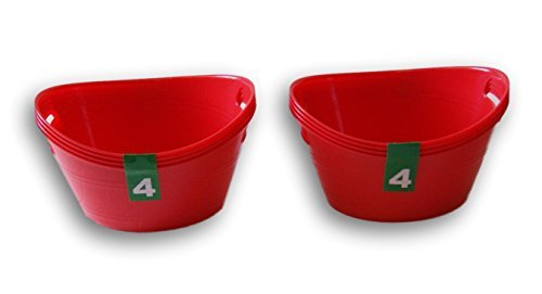 Kunststoff rot Schalen, Organisation-8Stück Garten Bowl-set