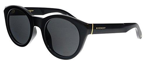 Givenchy gv 7003/s e5 d28, occhiali da sole donna, nero (shiny black/grey), 49