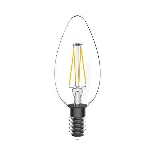Toshiba LED-Leuchtmittel Glas E14, 4.5 W, Weiss 9.5 x 3.5 x 9.5 cm