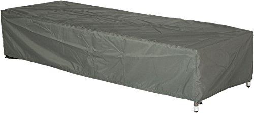 Stern Schutzhülle für Gartenmöbel, Liege, uni grau, 200 x 75 x 40 cm, 0,9 ml, 454803