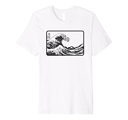 Great Wave off Kanagawa Outline Premium Shirt -