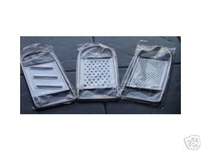 Stainless Steel Flat Graters- Set of 3 by BCW