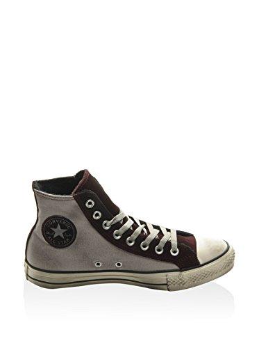 Converse All Star Hi Canvas/Suede Terry, Scarpe da Ginnastica Unisex – Adulto Grigio (Gris / Burdeos)