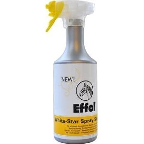 Effol White Star Shampoo Spray, 750 ml, ideale per greys e altri, adatto per rimuovere lo sporco e lascia il pelo lucido