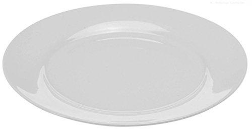 Teller in weiß - Geschirrset - Speiseteller, Suppenteller und Schalen (18 cm - Teller 12er Set)