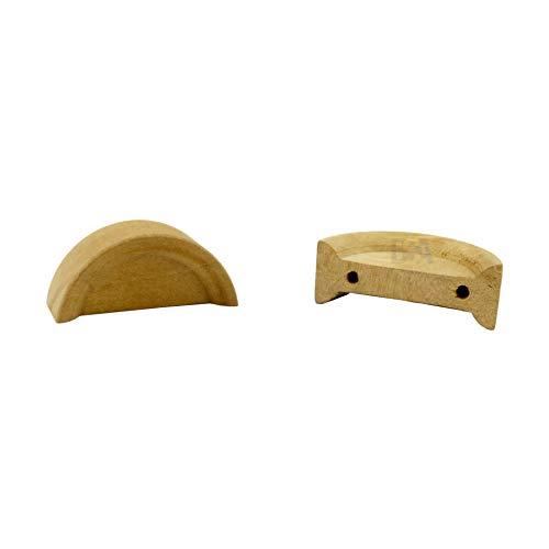 Holzgriff Halbmond 40 x 17 x 14 mm FOR FOREST 02 weiblich mdf Knopf Schublade Schranktüren Schranktüren unbehandelt -