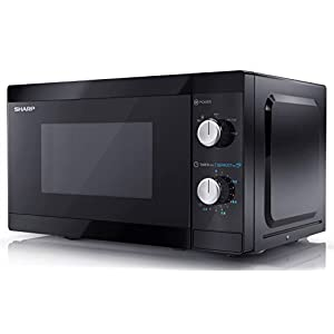 Sharp YC-MS01U-B 800W Solo Microwave Oven with 20 L Capacity, 5 Power Levels & Defrost Function – Black
