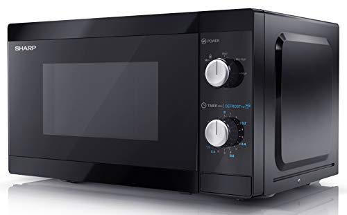 Sharp YC-MS01U-B 20L 800W Freestanding Microwave Oven - Black