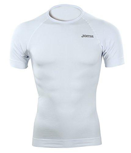 Joma Brama Classic - Maglia termica a manica corta da uomo, colore bianco.  Taglia S-M