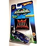 Hot Wheels 2006 AcceleRacers Realm Series Jack Hammer with Blue and White Waves Team Metal Maniacs