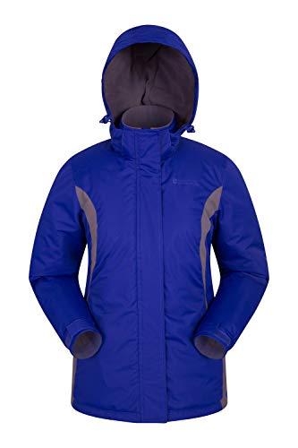 Mountain Warehouse Moon Damen-Skijacke - Schneedicht, Mikrofaser-Isolierung, Winddichte Winterjacke, warm, verstellbare Kapuze - Ski-Bekleidung für den Snowboard-Urlaub Dunkelblau DE 48 (EU 50) -