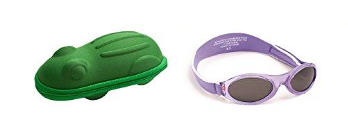 Yoccoes - Lunettes de soleil - Bébé (fille) 0 à 24 mois multicolore Lilac sunglasses, green case