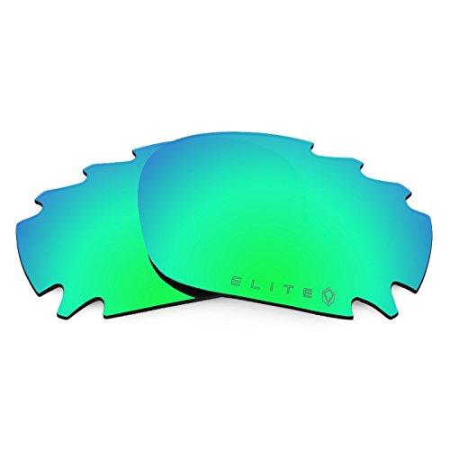 Revant Ersatzlinsen für Oakley Racing Jacket Vented Polarisierung Elite Rogue Grün MirrorShield®