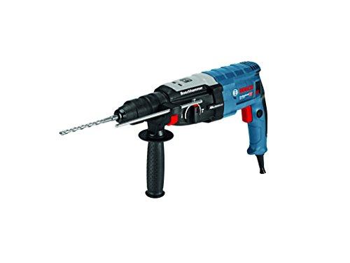 Bosch Professional GBH 2-28F, cambio fodera SDS-PLUS, motore mandrino autoserrante 13mm, 880Watt, attacco utensili, impugnatura supplementare, panno, L-BOXX, 1pezzi lavatrice, 0611267601