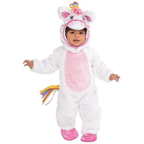 Mystisches Einhorn Pony Jumpsuit Einhorn Kostüm Baby Mädchen Amscan (Kostüm Pony Baby)