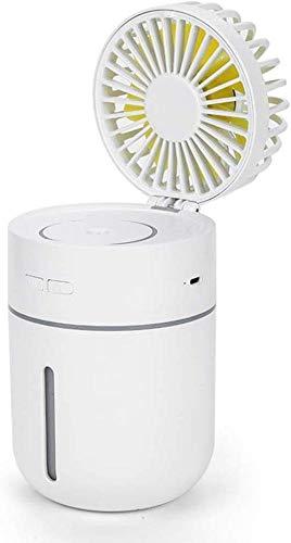 HengYue Mini USB Palmare Umidificatore Nebbia Acqua Nebulizzata Aria Condizionata Ventilatore Idratante Nebulizzatore Portatile Viso Nebulizzatore Umidificatore Nebulizzatore 400 Ml,White