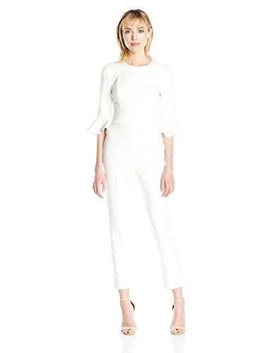 Black Halo Brooklyn Damen Jumpsuit - Weiß - 38