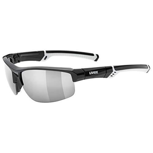 Uvex Erwachsene Sportstyle 226 Sportbrille, Black/White, One Size