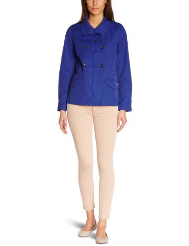 Geox Damen Mantel Trench - Blau - Bleu (Bleu Royal) - 40 (Herstellergröße: 42)