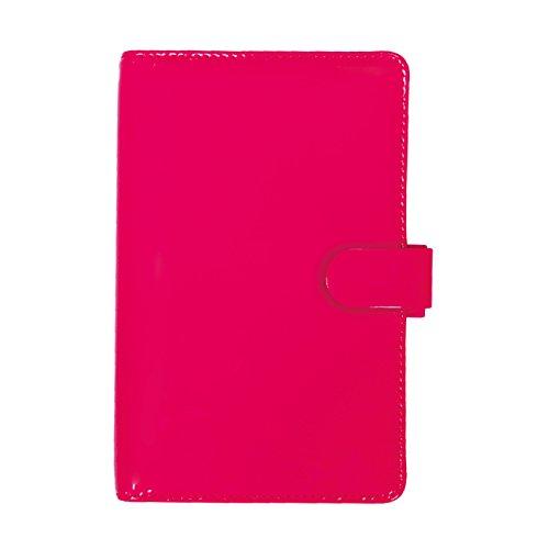Filofax 2018 Patent Organizer, Personal Compact (6,75 x 3,75), Fluro Pink, Planer mit To-Do- und Kontaktminen, Indexe und Notizpapier (C022543-18) Patent 3 3/4