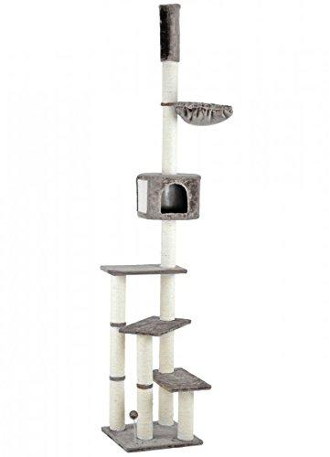 animal-design Katzen-Kratzbaum Kitty mit Katzen-Höhle & Liegeflächen deckenhoch XXL, Farbe:grau 102