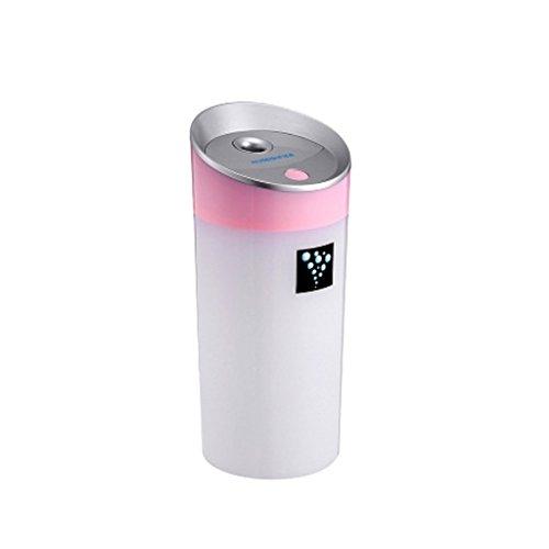 MagiDeal 300ML Ultrasónico Humidificador USB para Coche Oficina Casa de Color Verde/Azul/ Rosa/Blanco - Rosa