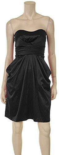 Estate dell'abito cocktail dell'abito bustino spalline e grandi taglie XXL dell'abito usignuolo + lòdola Nero
