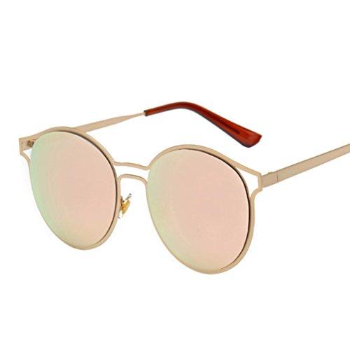 OverDose Unisex Sommer Frauen Männer Moderne Modische Spiegel Polarisierte Katzenauge Metallrahmen Sonnenbrille Brille Damensonnenbrille Herrensonnenbrille (N-D)