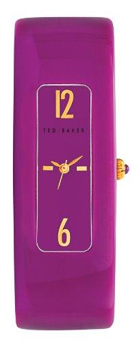 Ted Baker TE4060 - Reloj para mujeres, correa de plástico color púrpura