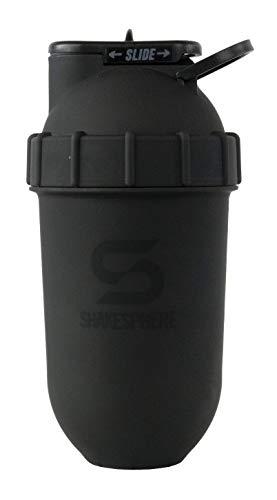 ShakeSphere -Protein-Shaker-Kapselform-einfache Reinigung-kein Spiralball oder Quirl notwendig -BPA-frei - zum Mixen und Trinken von Shakes, Smoothies und mehr-700ml (Matte Schwarz mit schwarzem Logo)