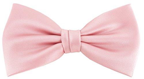 vorgebundene TigerTie Fliege Schleife in rosa Einfarbig Uni + Geschenkbox
