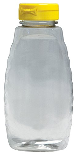 Mann Lake Clear Squeeze Bottle with Lid, 12-Ounce, 24-Pack 1