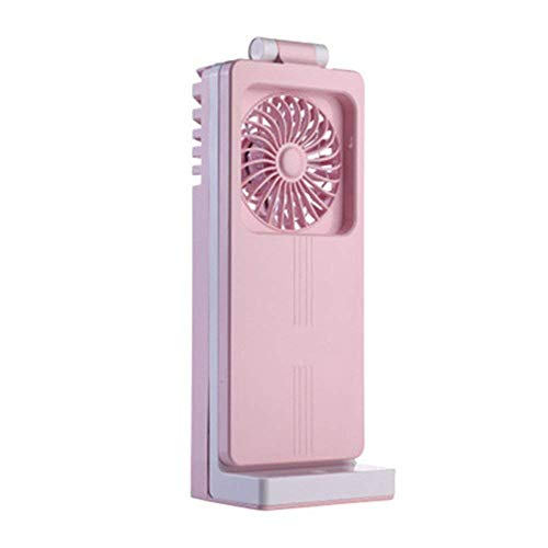 Carl Artbay , tragbarer USB-Ventilator/Schlafsaal/Faltbare Mini-Tischlampe, Lüfter (Farbe : Rosa)