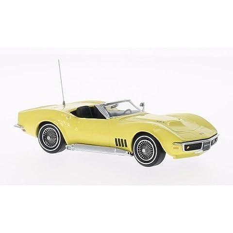 Chevrolet Corvette Convertible, yellow, 1968, Model Car, Ready-made, Vitesse 1:43 by Chevrolet