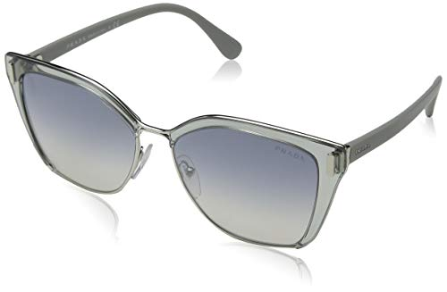 Ray-Ban Damen 0pr 56ts Sonnenbrille, Silber (Transparent Grey Light Blue Silver), 57