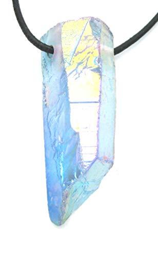 Amaryllis Rohstein gebohrt Angel Aura (Bergkristall bedampft) 4-6 cm
