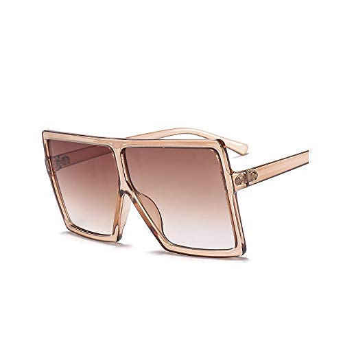 MINGW-Big Frame Gradient Shades Oversized Sunglasses Square Women Fashion Sun Glasses Uv400