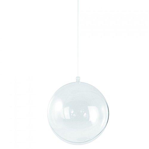 Rayher 3911737 - Pack de 2 bolas de adorno (plástico, 18 cm, cristal)
