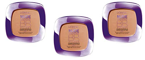L'Oréal Paris Nude Magique BB Poudre Medium Perfectrice de Teint Peau Foncé - Lot de 3