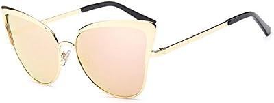 Botetrade Cortinas de la manera Gafas mujeres retro del gato de los ojos gafas de sol clš¢sico