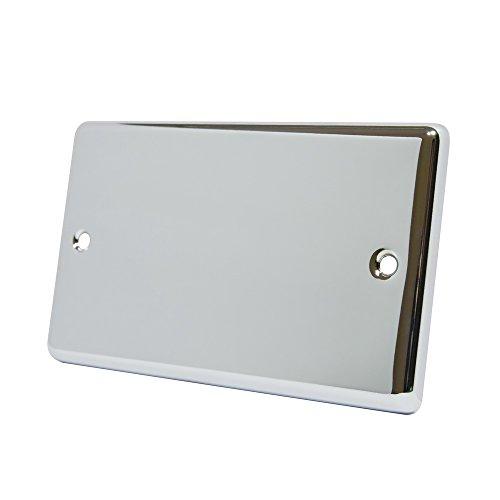 AET cpc2gbp Doppelsteckdose klassischen Chrom poliert 2Elektrik Abdeckplatte Chrom-platte