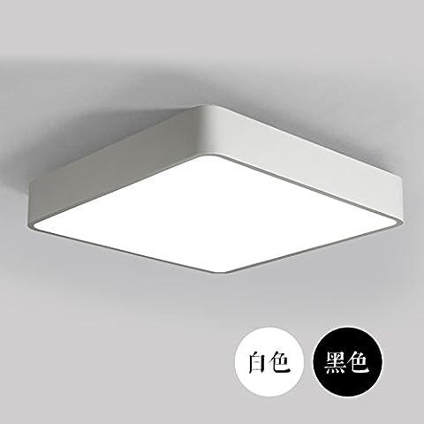 LYXG Moderno e minimalista indotto l'ufficio da soffitto in alluminio bianco luce piazza luminosa camera da letto studio luce (300mm*300mm), nero luce bianca